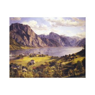 Ferdinand Georg Waldmüller Traunsee Orth Castle Canvas Print