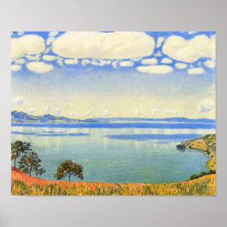 Ferdinand Hodler - Lake Geneva from Chexbres Poster