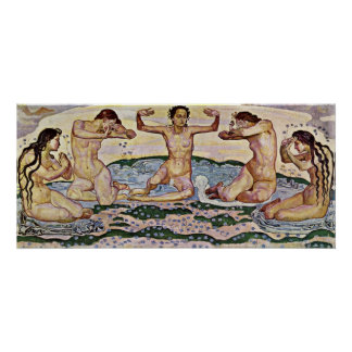 Ferdinand Hodler - The day Poster