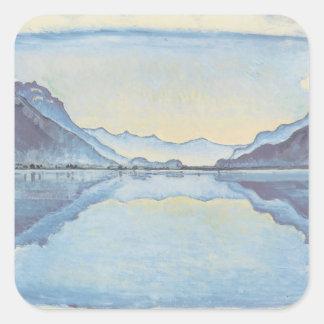 Ferdinand Hodler- Thun with symmetric mirroring Square Sticker