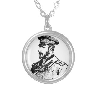 Ferdinand I of Bulgaria Silver Plated Necklace
