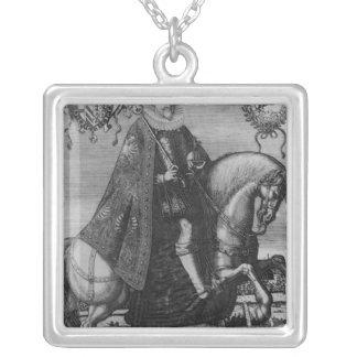 Ferdinand II , Holy Roman Emperor Square Pendant Necklace