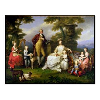 Ferdinand IV  King of Naples, and his Family Postcard