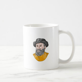 Ferdinand Magellan Bust Drawing Coffee Mug