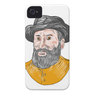 Ferdinand Magellan Bust Drawing iPhone 4 Cover