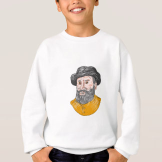 Ferdinand Magellan Bust Drawing Sweatshirt