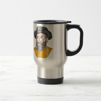 Ferdinand Magellan Bust Drawing Travel Mug