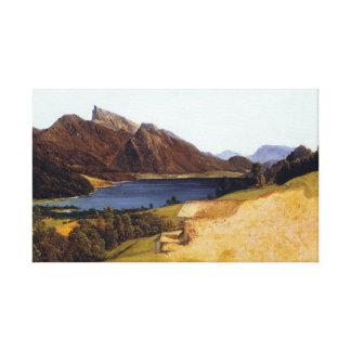 Ferdinand Waldmüller Lake Fuschel with Schafberg Canvas Print