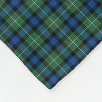Ferguson Clan Blue, Green and Red Tartan Fleece Blanket