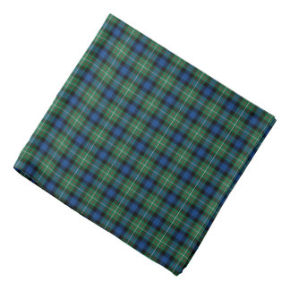 Ferguson Family Royal Blue and Green Tartan Bandana