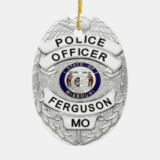 Ferguson Police Badge Ceramic Ornament