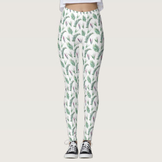 Fern and Fronds Jungle Themed Leggings