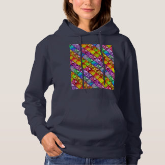 Fern and Ivy (Diag) Art Photo Series Hoodie Navy