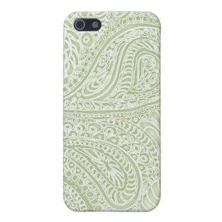 Fern batik paisley iphone case pale green iPhone 5 cases