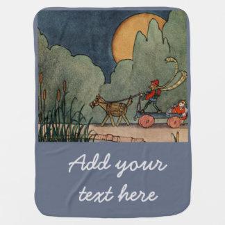 Fern Bisel Peat vintage illustration for Jiji Lou Baby Blanket