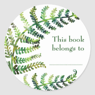 Fern Bookplate Stickers