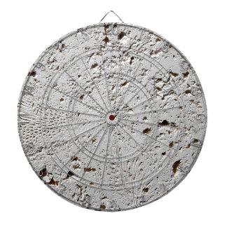 Fern Fossil Tile Surface Closeup Dartboard