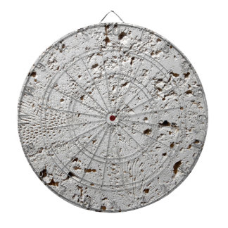Fern Fossil Tile Surface Closeup Dartboard With Darts