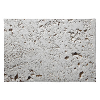 Fern Fossil Tile Surface Closeup Placemat