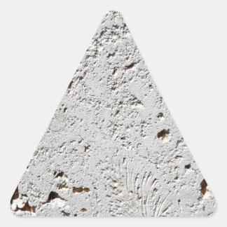 Fern Fossil Tile Surface Closeup Triangle Sticker