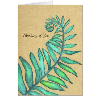 Fern Frond Colorful Botanical Ferns Palm Card