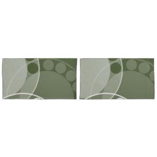 Fern Frond Design, Monochrome Green-Pillow Case Pillowcase