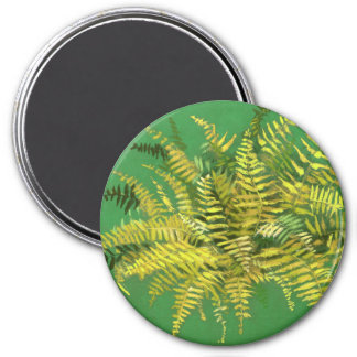 Fern, fronds, floral, green golden yellow greenery magnet