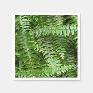 Fern Fronds I Green Nature Disposable Napkin