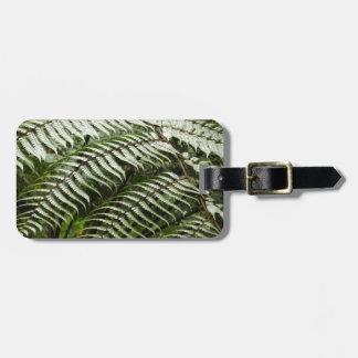 Fern Fronds II Dark Green Nature Luggage Tag
