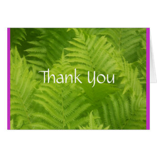 Fern Garden Thank You Stationery Note Card
