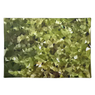 Fern Green Abstract Low Polygon Background Placemat