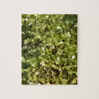 Fern Green Abstract Low Polygon Background Puzzle