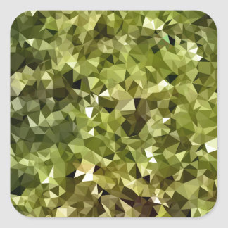 Fern Green Abstract Low Polygon Background Square Sticker