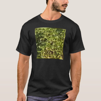 Fern Green Abstract Low Polygon Background T-Shirt
