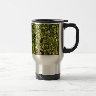Fern Green Abstract Low Polygon Background Travel Mug