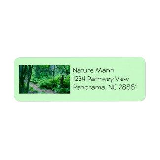 Fern Hiking Trail Address Label