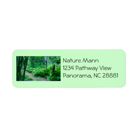 Fern Hiking Trail Address Label