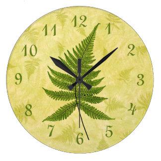 Fern Large Clock