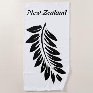Fern leaf beach towel