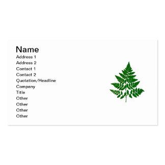Fern leaf pack of standard business cards