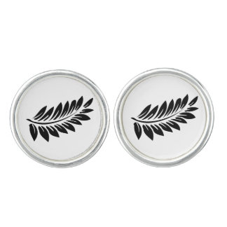 Fern leaf cuff links