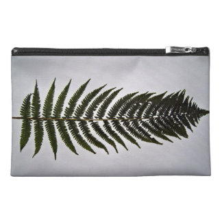 Fern leaf isolated on white background travel accessory bag