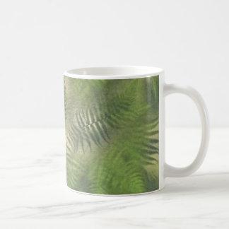 Fern Leaf Nature Outdoors Pattern Green Coffee Mugs