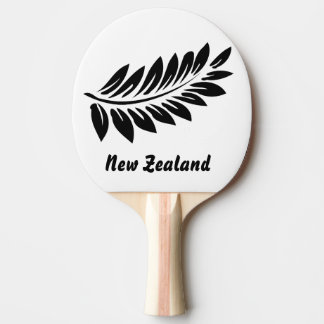 Fern leaf ping pong paddle