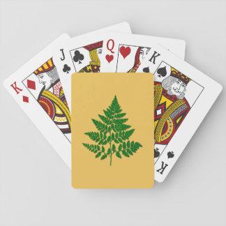 Fern leaf poker deck