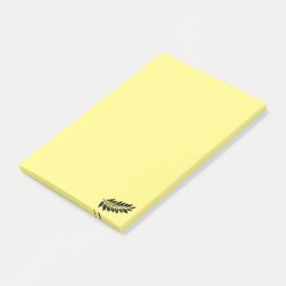 Fern leaf post-it notes