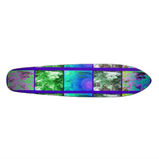 Fern Leaf Series ( Blue Green Section ) Skateboard