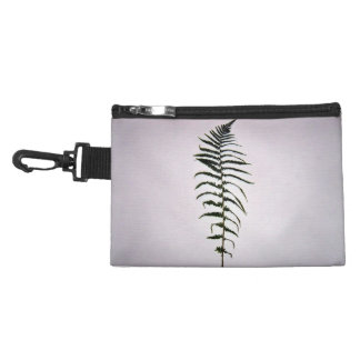 Fern leaves isolated on a white background accessory bag