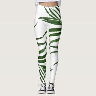 Fern Leaves Tropical Leggings
