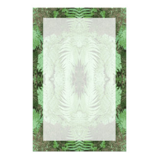 Fern Pattern Graphic. Green. Customised Stationery